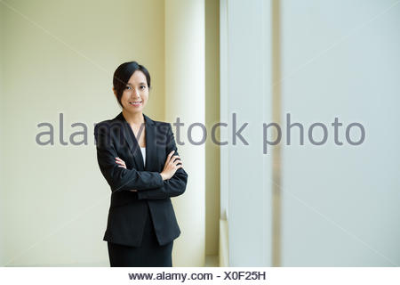 Asian Young Businesswoman at office - Stock Photo