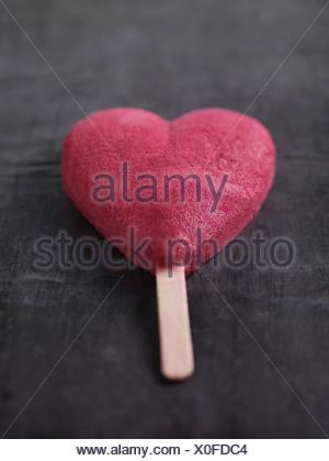 Heart-shaped ice cream bar - Stock Photo
