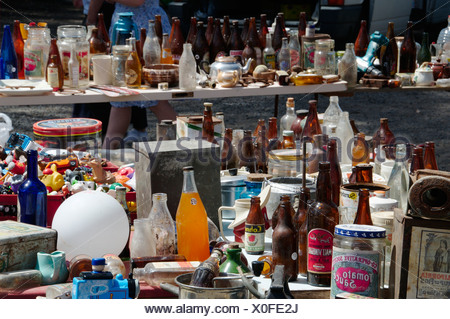 Australia, Central Victoria, Wesley Hill, Bric-a-brac market - Stock Photo