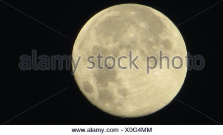 Detail Of Moon Against Dark Sky - Stock Photo