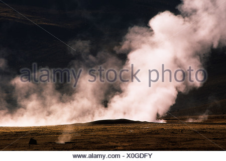 Tatio Geysers, Salar de Atacama, Chile, South America - Stock Photo