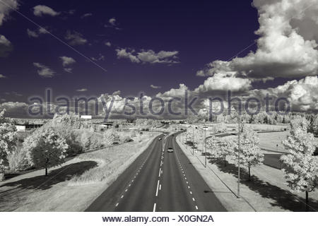 Highway with UV pass filter Stock Photo: 64929334 - Alamy
