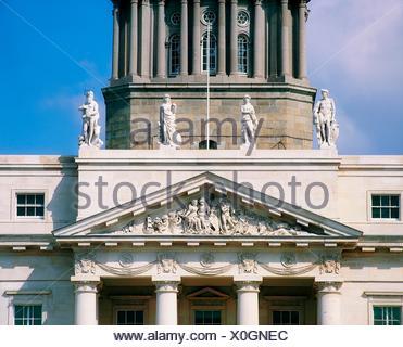 River Gods Of Ireland, Custom House, Dublin, Co Dublin, Ireland - Stock Photo