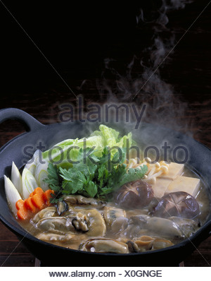 Pot Of Oyster - Stock Photo