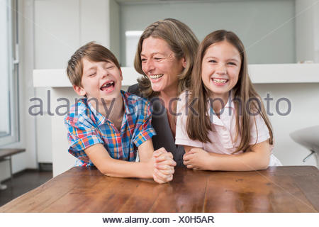 Happy grandmother with grandchildren, portrait - Stock Photo