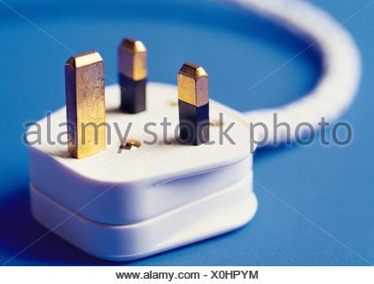 till life. UK. Household item. 13 amp electrical plug. - Stock Photo