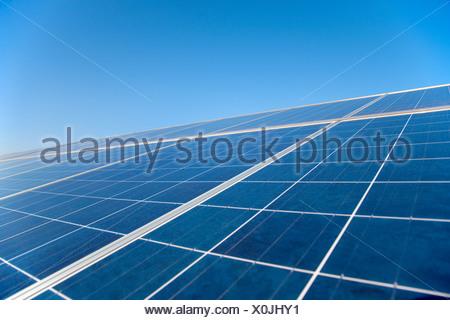 Close up of solar panels - Stock Photo