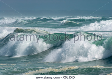 Surf at the Pointe de la Torche, Brittany, France, Europe - Stock Photo