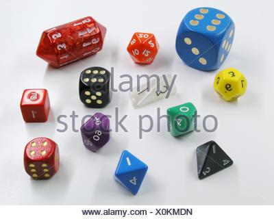 dice cube cubes wrfel spielwrfel rollenspielwrfel wrfel wrfelspiel spielwrfel - Stock Photo