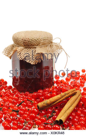 isolated berries jam berry currant red close still life glass chalice tumbler food aliment object health macro close-up macro - Stock Photo