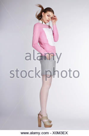 attractive teenager girl wearing sandals stock photo  alamy