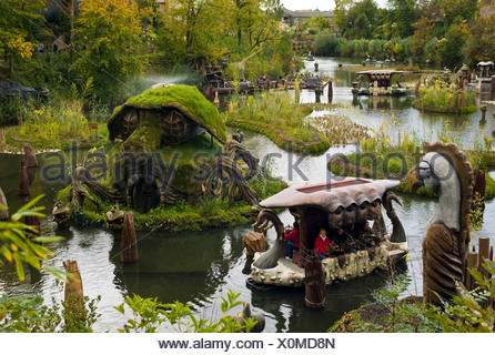 Phantasialand, amusement park, theme park Fantasy, attraction WAKOBATO, Bruehl, Nordrhein-Westfalen, Germany, Europe - Stock Photo