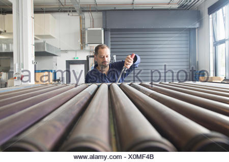 Worker in industrial plant - Stock Photo