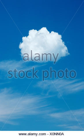Individual Cumulus Cloud Against A Blue Sky Stock Photo 278986580
