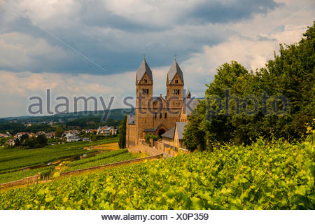 Abbey, Benedictine, Bingen, diocese, bishopric, Germany, Eibingen, Europe, Hessen, Hildegard, Limburg, Rüdesheim - Stock Photo
