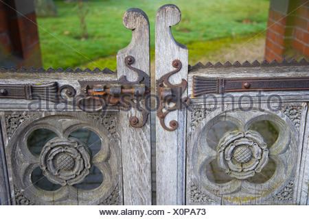 Gates of Remenham St Nicholas Church, Remenham, Oxfordshire, England, United Kingdom, Europe - Stock Photo