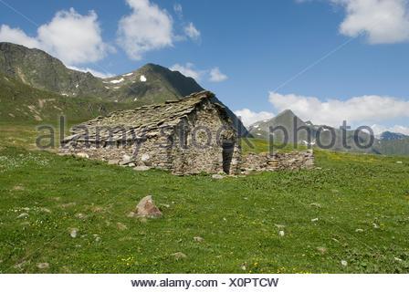 sheepfold of Val Piora, Canton Ticino, Switzerland, Europe - Stock Photo