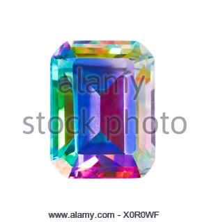 Mystic topaz gemstone - Stock Photo