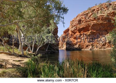 Big Hole in Ellery Creek, West Macdonnell Ranges, Northern Territory, Australia - Stock Photo