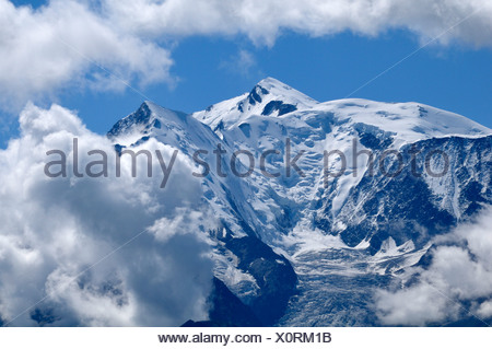 Mont Blanc, Alps, France - Stock Photo