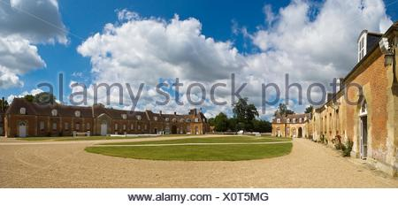 The Haras National du Pin (horses´ breeding and stud farm), Pays d´Argentan, Orne, Lower Normandy, France - Stock Photo