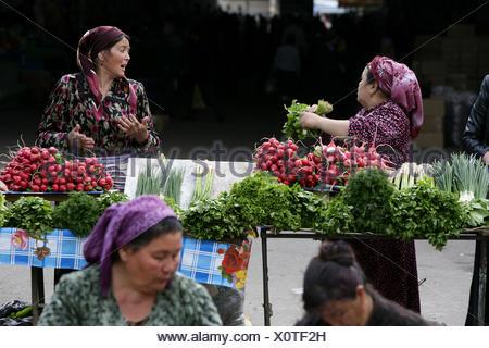 Seller, Chorsu Bazaar, Tashkent, Uzbekistan - Stock Photo