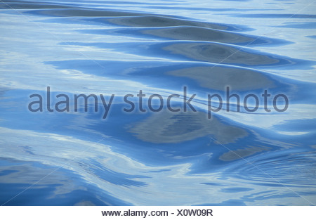 Waves in the polar sea, Spitsbergen, Svalbard, Arctic, Norway - Stock Photo