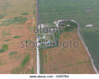 Equipment for the drying gas and condensate collection. Top view. - Stock Photo