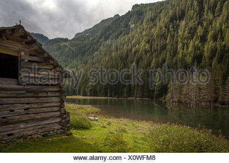 Small lake in the Dösental, Hohe Tauern - Stock Photo