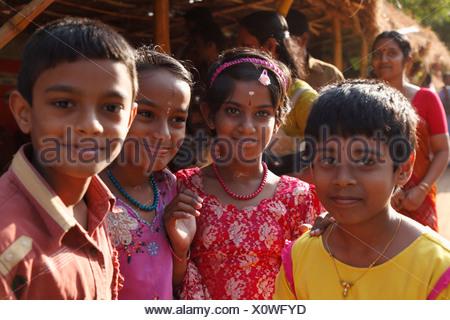 Children, Trivandrum, Thiruvananthapuram, Kerala state, India, Asia - Stock Photo