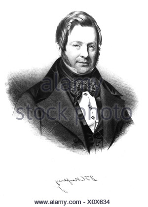Marschner, Heinrich, 16.8.1795 - 14.12.1861, German musician (composer), portrait, , Additional-Rights-Clearances-NA - Stock Photo