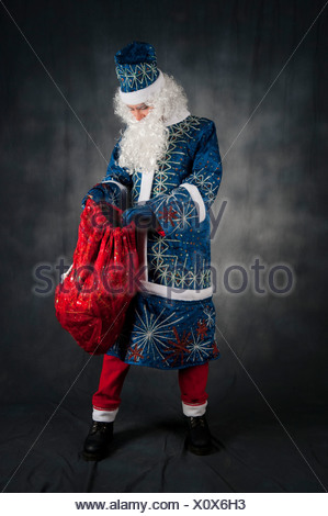 The Russian version of Father Christmas known as Ded Moroz (literally Grandfather Frost) - Stock Photo