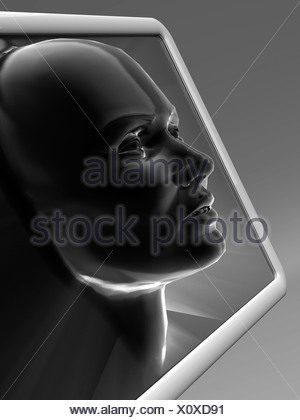 Artificial intelligence, artwork - Stock Photo