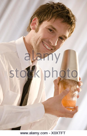 Barkeepers, shakers, smile, portrait, - Stock Photo