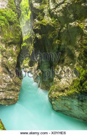 Tolmin gorges, Triglav National Park, Slovenia, East Europe. - Stock Photo