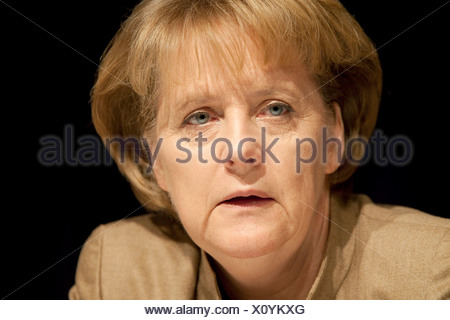 Angela Merkel, CDU Christian Democratic Union, Federal Chancellor and CDU Chairwoman - Stock Photo