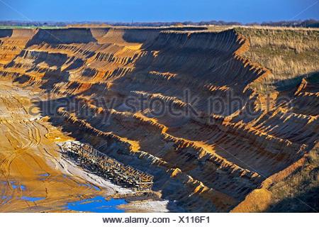 Garzweiler II brown coal surface mining, Germany, North Rhine-Westphalia, Garzweiler - Stock Photo