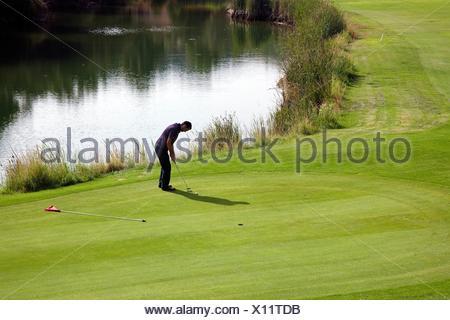 Marbella Club Golf, Malaga, Costa del Sol, Andalusia, Spain. - Stock Photo