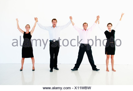 Jubilant business team - Stock Photo