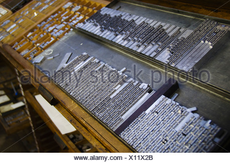 United Kingdom Bristol printing plates on antique printing press - Stock Photo & United Kingdom Bristol printing plates on antique printing press ...
