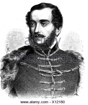 Kossuth, Lajos, 16.9.1802 - 20.3.1894, Hungarian politician, Regent-President of Hungary in 1849, portrait, wood engraving, 19th century, - Stock Photo