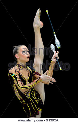 Rhythmic gymnastics, Viktoria SHYNKARENKO, UKR, Ukraine - Stock Photo