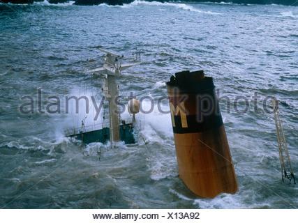 BRAER OIL TANKER - Stock Photo