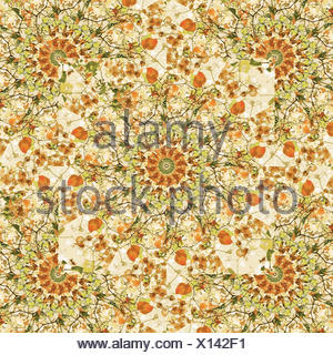 Modern Geometric Nature Print Pattern - Stock Photo