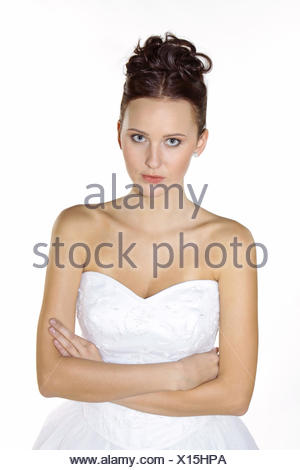 Braut, Hochzeit, Heirat, Heiraten, Brautkleid, Romantik (Modellfreigabe) - Stock Photo