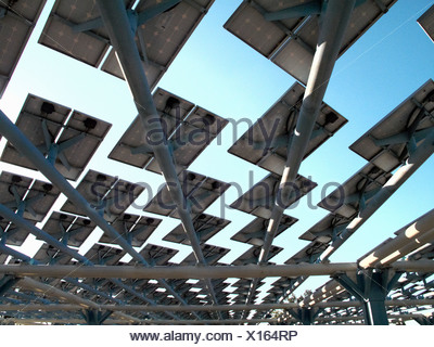 Solar panels creating shade on roof