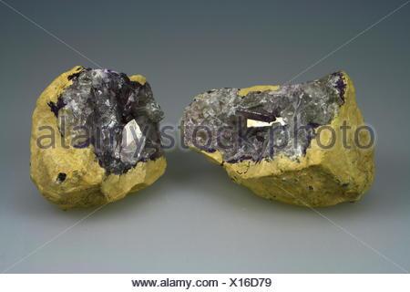 Celestine geode from Tunesia - Stock Photo