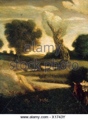 The Forest of Arden. Artist: Albert Pinkham Ryder (American, New Bedford, Massachusetts 1847-1917 Elmhurst, New York); Date: 1888-97 (?), reworked - Stock Photo