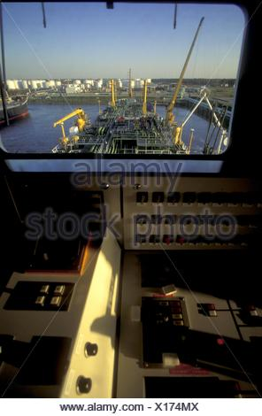 View from the Bridge of an Oil Tanker - Stock Photo