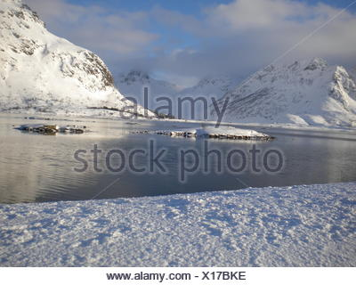 Vinter i Lofoten - Stock Photo